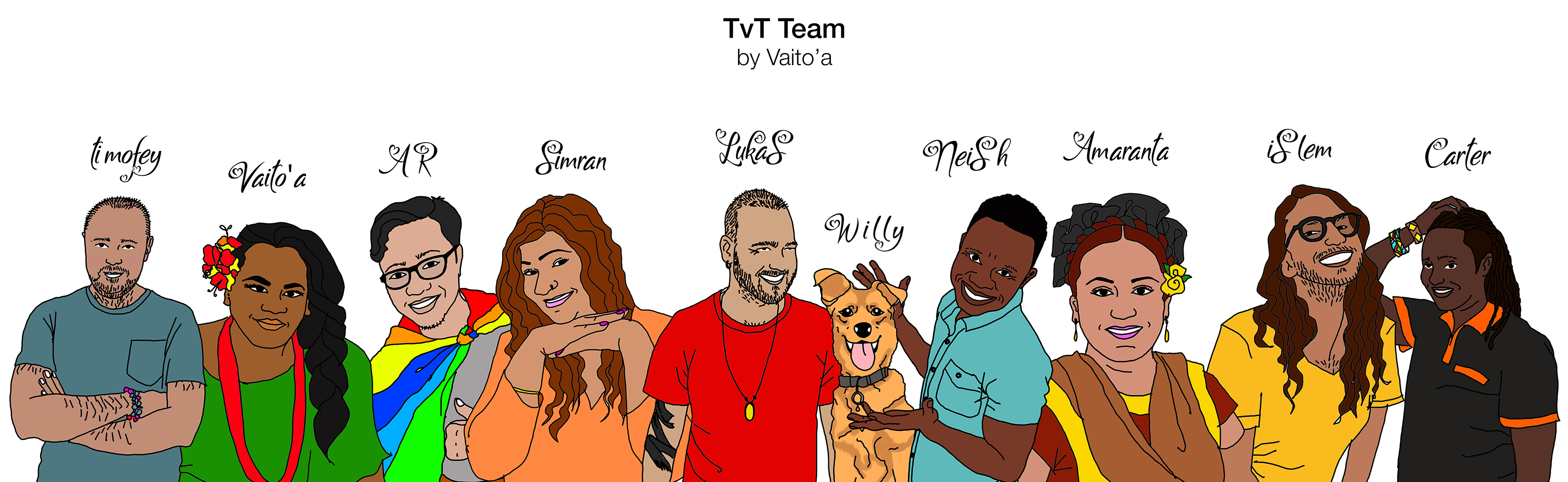 TvT Team Illustrations by Vaito'a